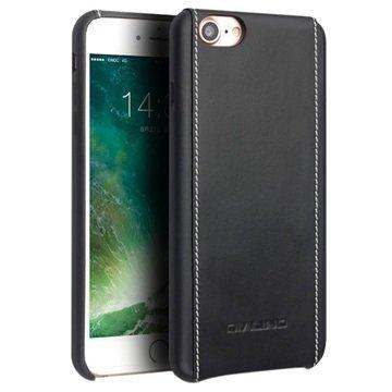 iPhone 7 Qialino Nahkainen Suojakotelo Musta
