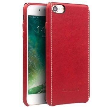 iPhone 7 Qialino Nahkainen Suojakotelo Punainen