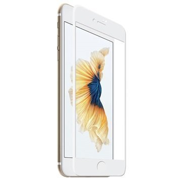 iPhone 7 Rock Full Coverage Karkaistu Lasinen Näytönsuoja Valkoinen