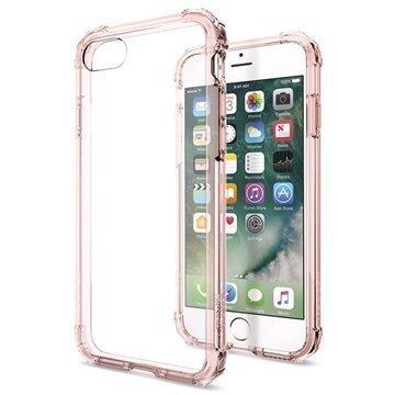 iPhone 7 Spigen Crystal Shell Suojakuori Vaaleanpunainen Kristalli