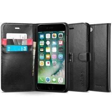 iPhone 7 Spigen S Lompakkokotelo Musta