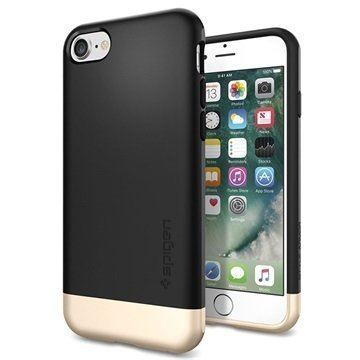 iPhone 7 Spigen Style Armor Kotelo Musta