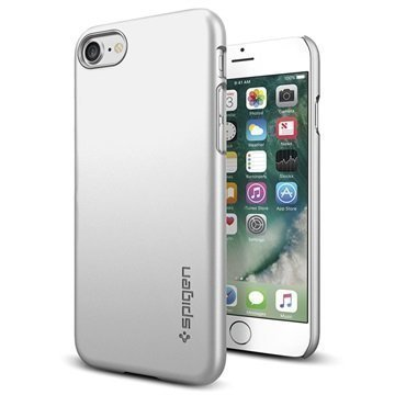 iPhone 7 Spigen Thin Fit Suojakuori Hopeasatiini