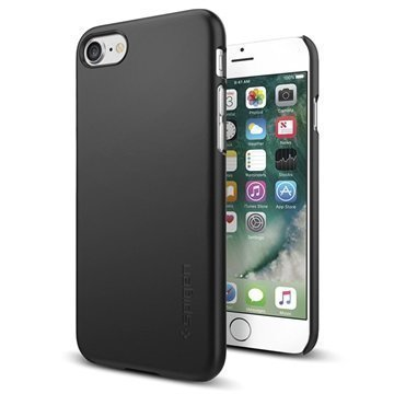 iPhone 7 Spigen Thin Fit Suojakuori Musta