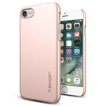 iPhone 7 Spigen Thin Fit Suojakuori Ruusukulta