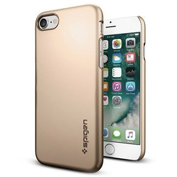 iPhone 7 Spigen Thin Fit Suojakuori Samppanjakulta