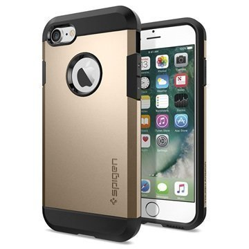 iPhone 7 Spigen Tough Armor Kotelo Samppanja Kulta