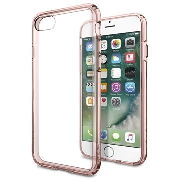 iPhone 7 Spigen Ultra Hybrid Suojakuori Rose Crystal
