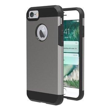 iPhone 7 Tuff-Luv Slim Armour 2-kerroksinen TPU suojakuori Harmaa