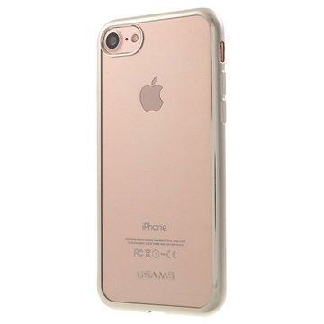 iPhone 7 Usams Kim TPU Suojakuori Hopea