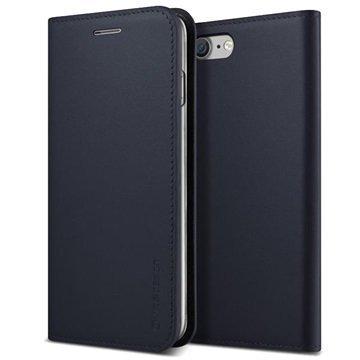 iPhone 7 VRS Design Diary Nahkainen Lompakkokotelo Tummansininen
