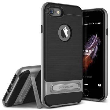 iPhone 7 VRS Design High Pro Shield suojakuori Teräksinen Hopea