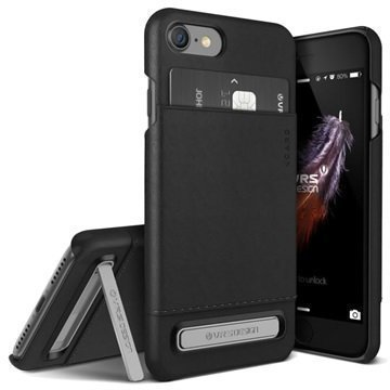 iPhone 7 VRS Design Simpli Leather suojakuori Musta