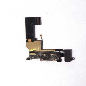 iPhone SE Latausportti flex-kaapeli + kuulokeliitäntä + mikrofoni Musta