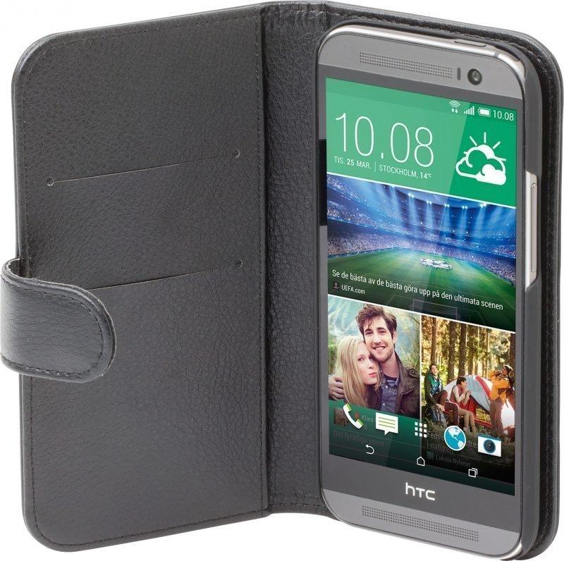 iZound Leather Wallet Case HTC One (M8) Black