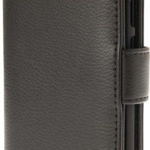 iZound Leather Wallet Case Lenovo Moto G4 Play Black