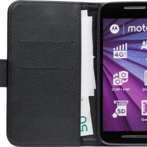 iZound Leather Wallet Case Motorola Moto G (3rd gen) Black