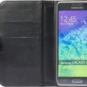 iZound Leather Wallet Case Samsung Galaxy Alpha Black