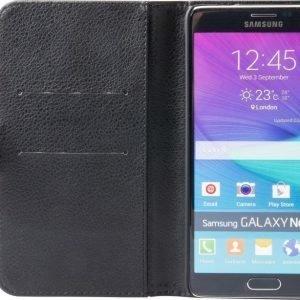 iZound Leather Wallet Case Samsung Galaxy Note 4 Black