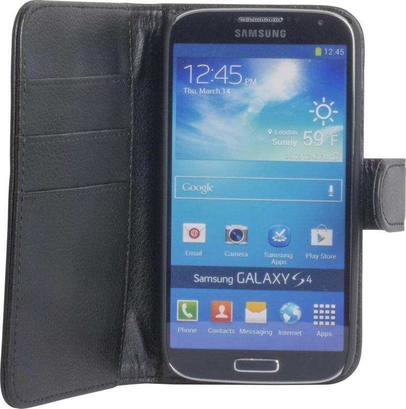 iZound Leather Wallet Case Samsung Galaxy S4 Black