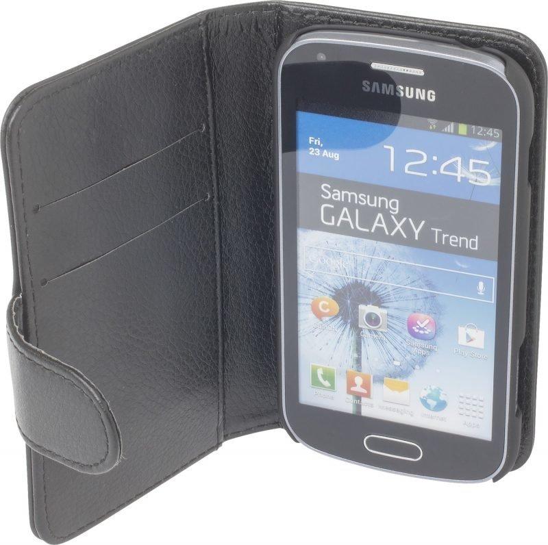 iZound Leather Wallet Case Samsung Galaxy Trend Black