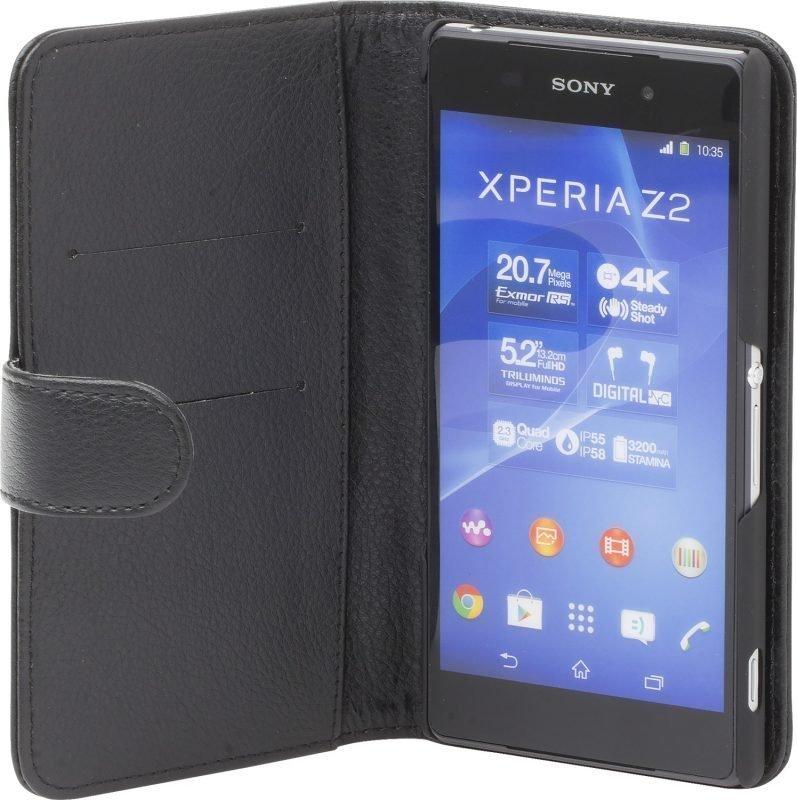 iZound Leather Wallet Case Sony Xperia Z2 Black