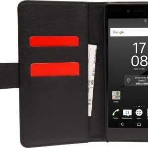 iZound Leather Wallet Case Sony Xperia Z5 Premium Black