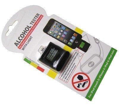 ipega Alcotest for iPhone 5 alkometri Lightning liitännällä musta
