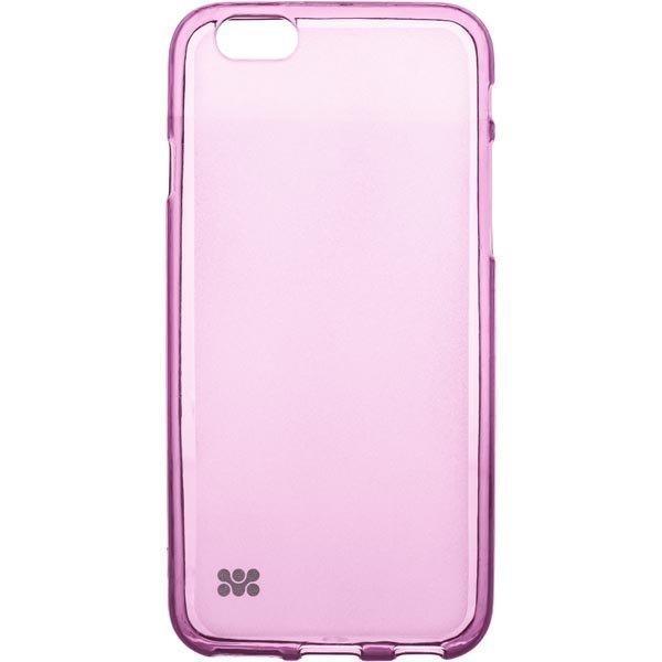 promate Akton-i6 kestomuovikuori iPhone 6 läpinäkyvä vaal.pun