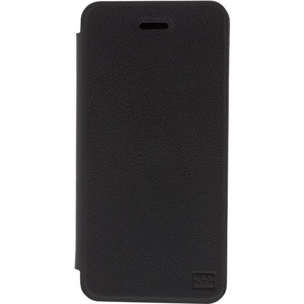 promate Slant-i6 nahkasuojus iPhone 6:lle tukitoiminto musta