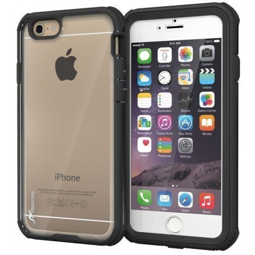 roocase Glacier Tough Case Full Body Suojakotelo Apple iPhone 6 4.7-inch Black