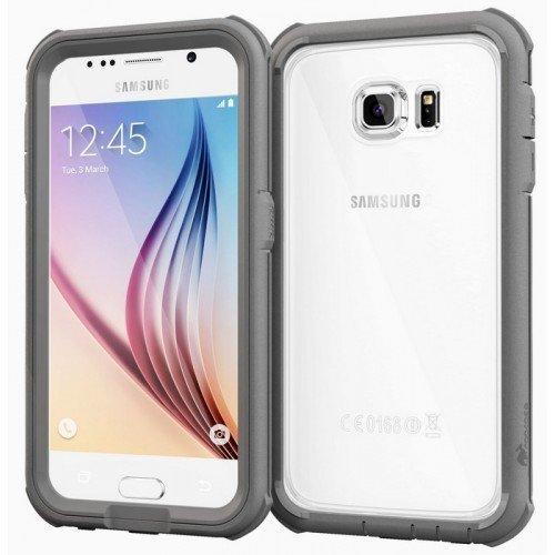 roocase Glacier Tough Hybrid PC TPU Rugged Suojakotelo Samsung Galaxy S6 Grey