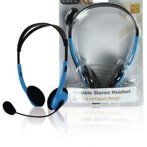 stereo headset sininen