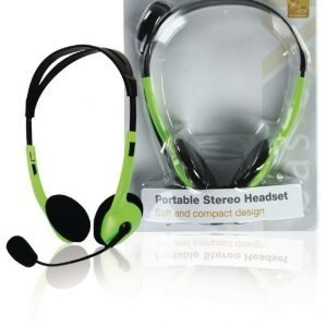 stereo headset vihreä